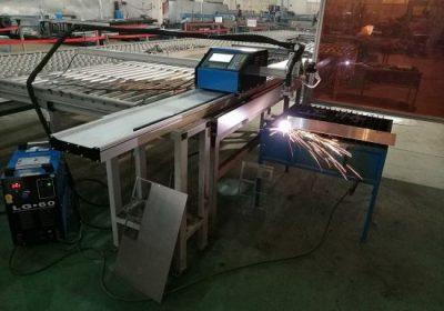 Přenosný CNC 100A plazmový řezací stroj pro 1 až 15 mm železný plech